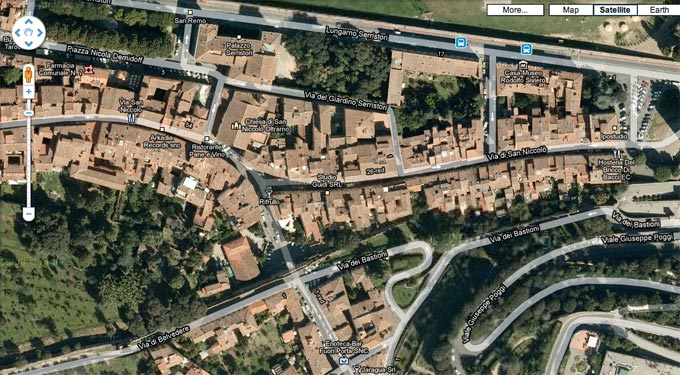 Firenze, Italia Google Maps Location 2006 approx