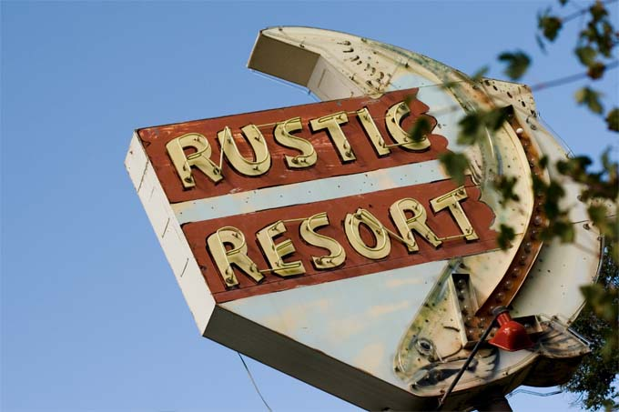 Rustic Resort Sign
