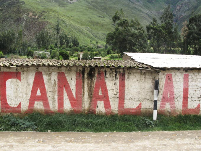 Political Typography Near Cusco by Erin Williams